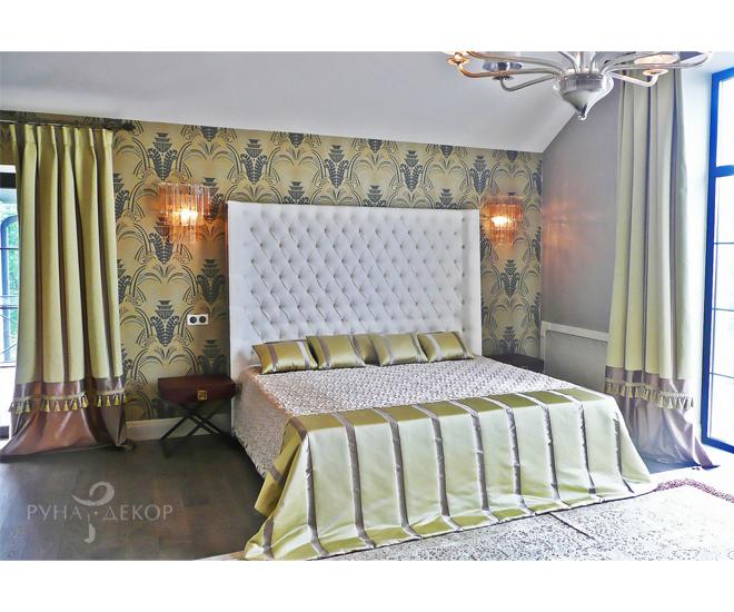 Шторы для спальни в стиле Ар-Деко